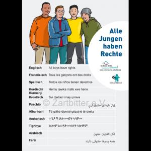 Alle Jungen haben Rechte in 12 Sprachen – kostenlos lediglich Versandkosten