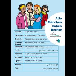 Alle Mädchen haben Rechte in 12 Sprachen – kostenlos lediglich Versandkosten