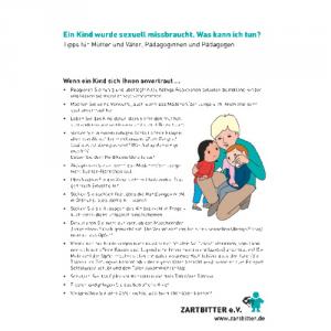 Ein Kind wurde sexuell missbraucht. Was kann ich tun?