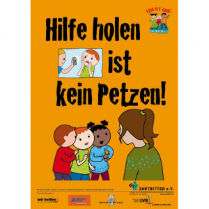 "Plakat ""Hilfe holen ist kein Petzen"""