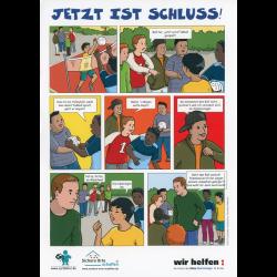 """Cartoon """"Jetzt ist Schluss!"""""""