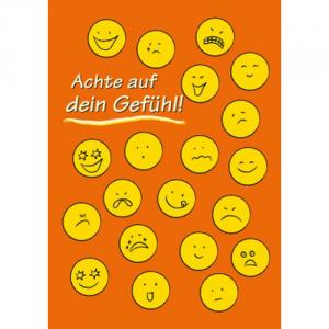 Achte auf Dein Gefühl! (Stickerpostkarte)