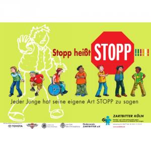 """Plakat """"Stopp heißt Stopp!"""""""