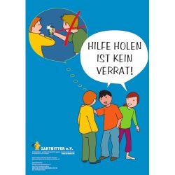 "Plakat ""Hilfe holen ist kein Verrat – gegen Cybermobbing"""
