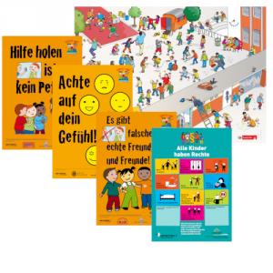 Plakatsatz für Mädchen und Jungen im Grundschulalter